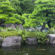 Japan, Himeji, Himeji Koko-en Gardens, pond with Koi Carps